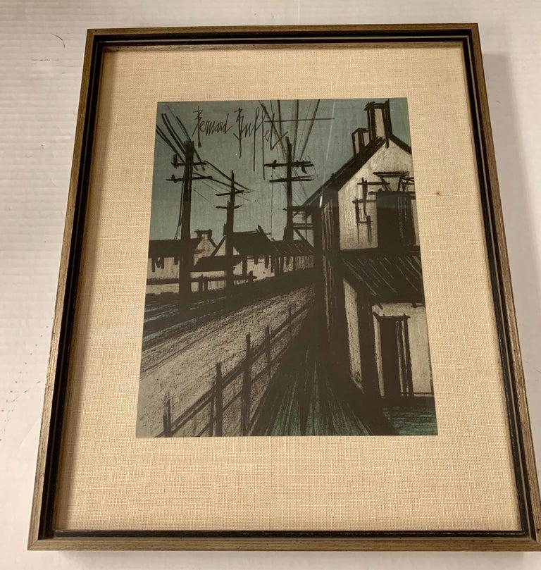 Brutalist Bernard Buffet Original Lithograph 1st Printing Art For Sale