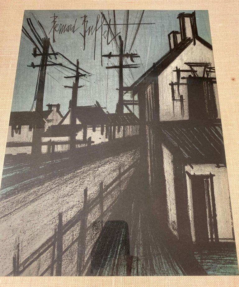 Late 20th Century Bernard Buffet Original Lithograph 1st Printing Art For Sale