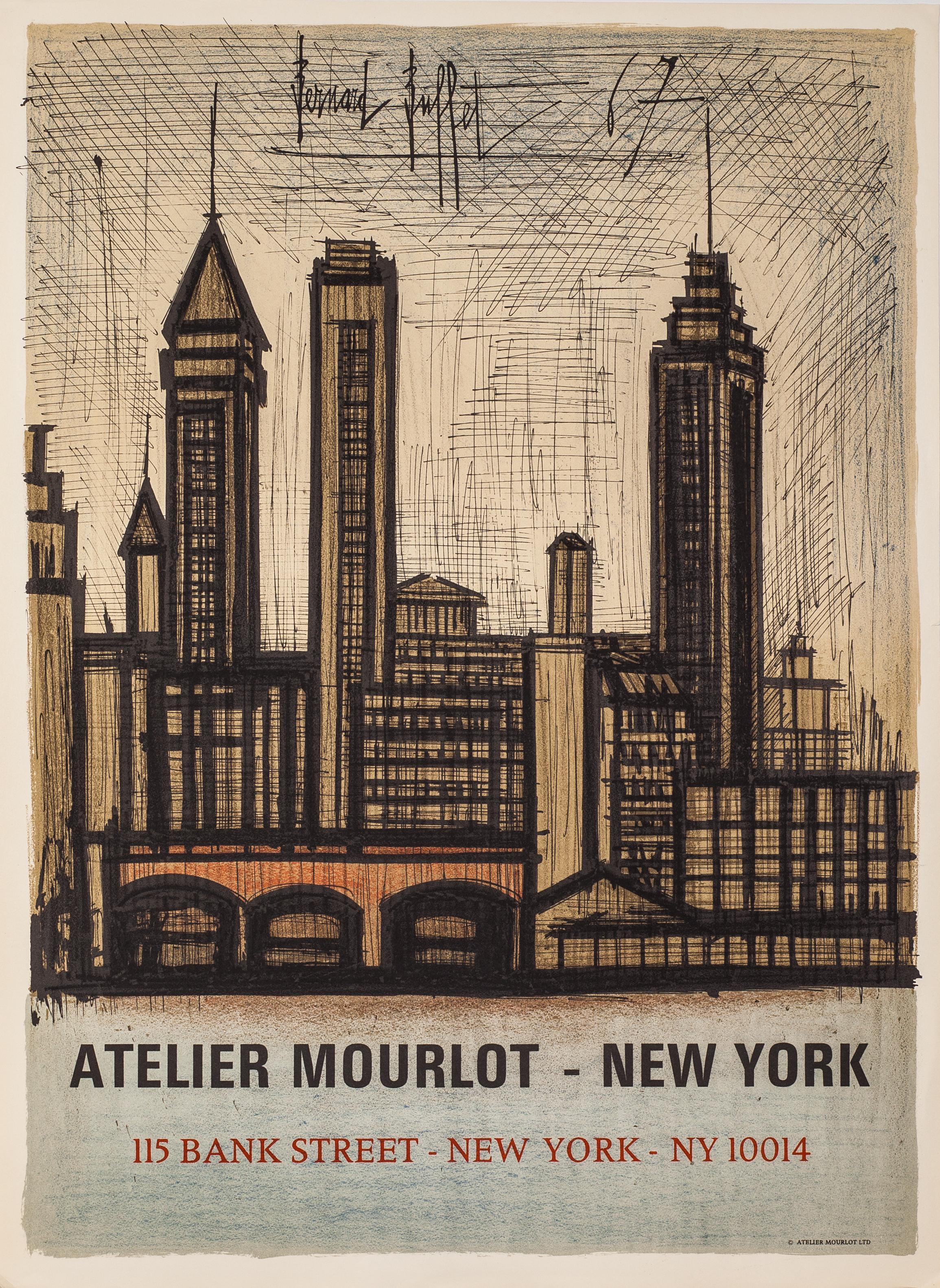 Atelier Mourlot - New York (NYC Skyline) by Bernard Buffet