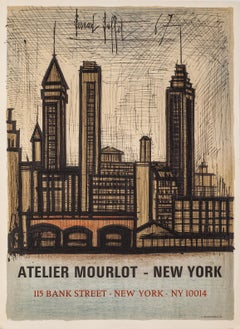 Atelier Mourlot - New York (NYC Skyline) by Bernard Buffet