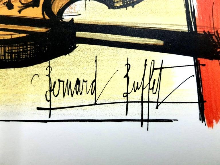 Bernard Buffet - Homage to Dufy - Lithograph - Fauvist Print by Bernard Buffet