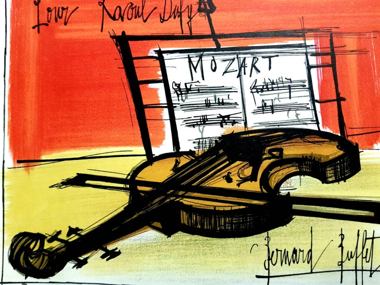 Bernard Buffet - Homage to Dufy - Lithograph For Sale 1