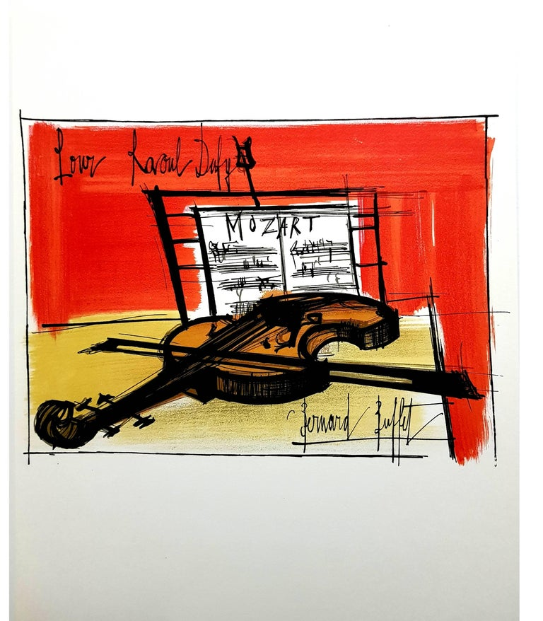 Bernard Buffet - Homage to Dufy - Lithograph For Sale 2