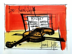 Bernard Buffet (after) - Homage to Dufy - Lithograph