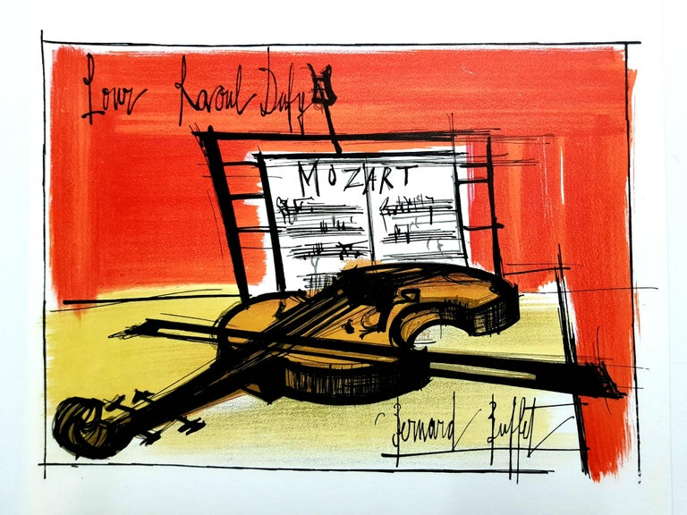 Fantastic Bernard Buffet After Homage To Dufy Lithograph Download Free Architecture Designs Boapuretrmadebymaigaardcom