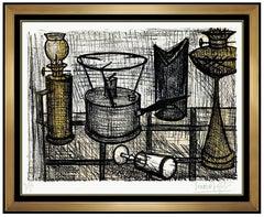 Bernard Buffet Original Lampe A Petrole Color Lithograph Hand Signed Still Life