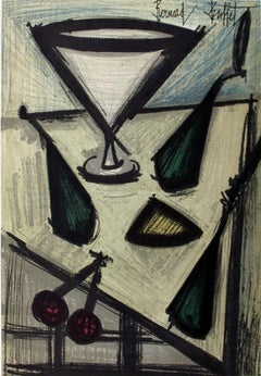"Bernard Buffet-Still Life With Fruit-12.25"" x 9.5""-Lithograph-1966"