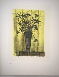 Bouquet Of Flowers - Color Lithograph - Bernard Buffet