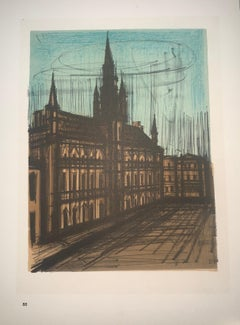 Brussele Town - Hall - Color Lithograph - Bernard Buffet
