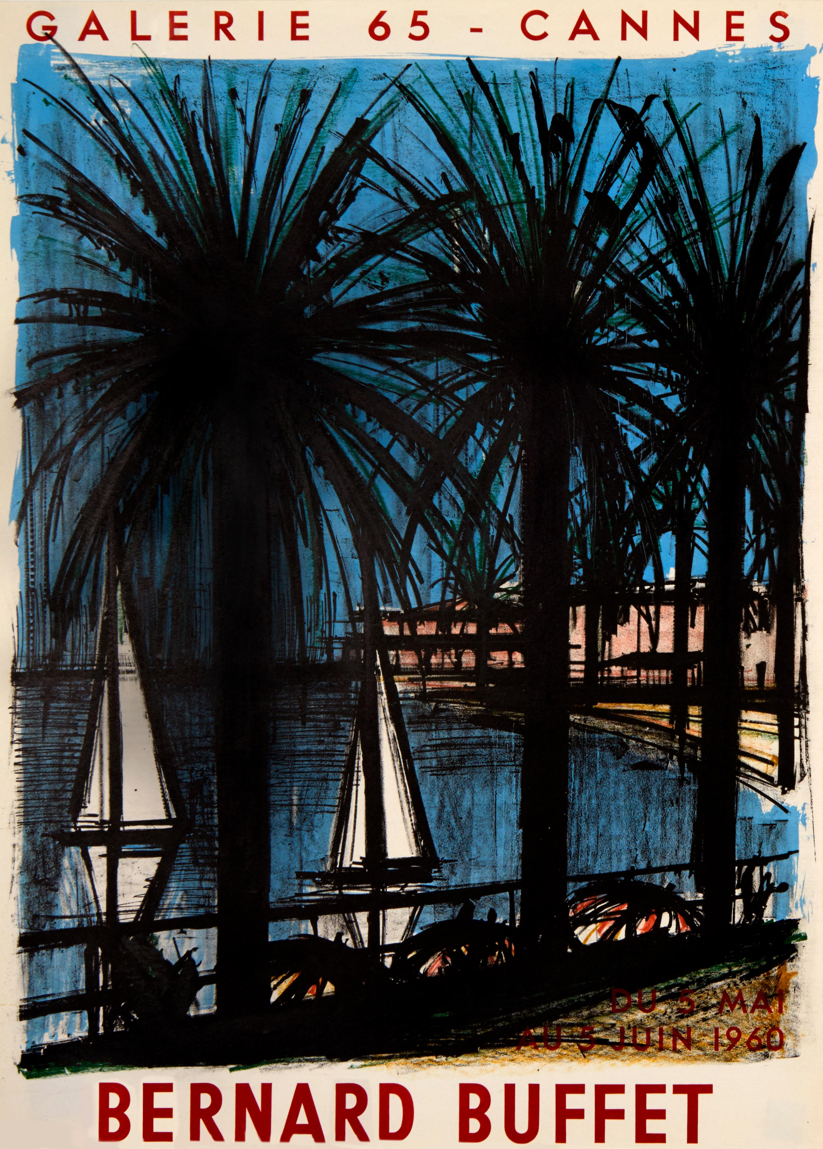 Cannes, Galerie 65 by Bernard Buffet - lithographic poster