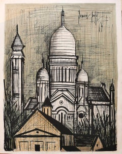 Church of Saint Sulpice - Original Lithograph by B. Buffet - 1964