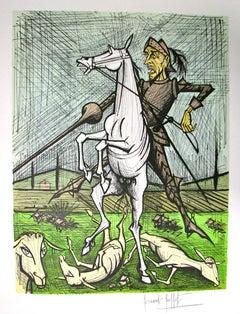 Des Troupeaux de Moutons, Lithograph, H.C., Signed, Ed. of 200, 1989