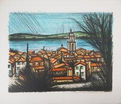 French Riviera : Saint Tropez Village - Original lithograph (Mourlot #238)