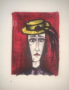 In Fancy Dress - Color Lithograph - Bernard Buffet
