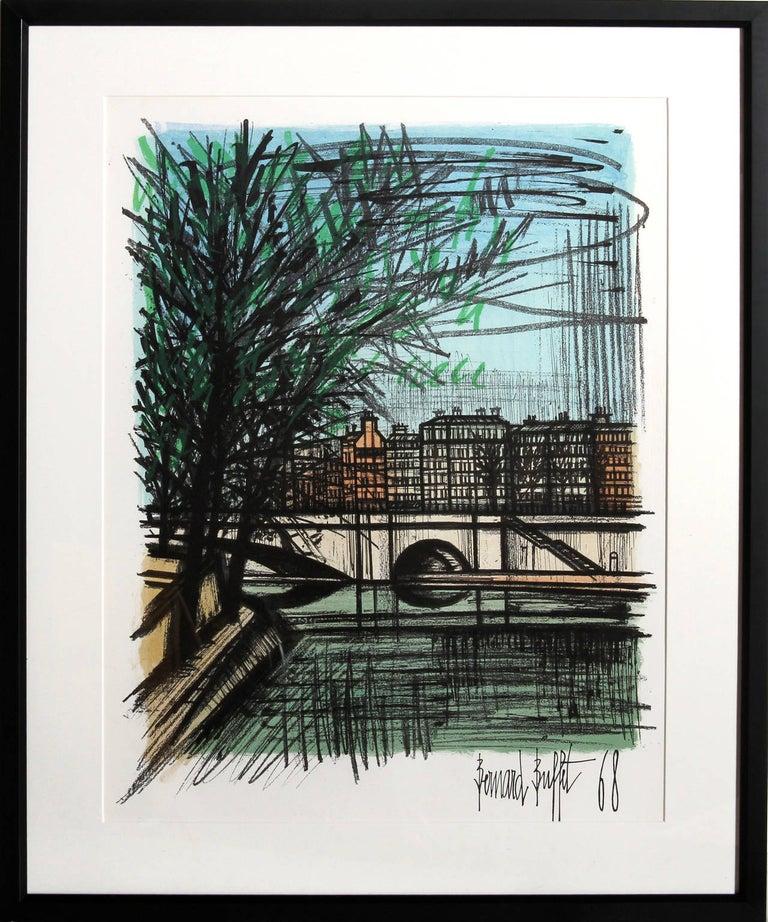 Bernard Buffet - La Seine I, Framed Lithograph by Bernard ...