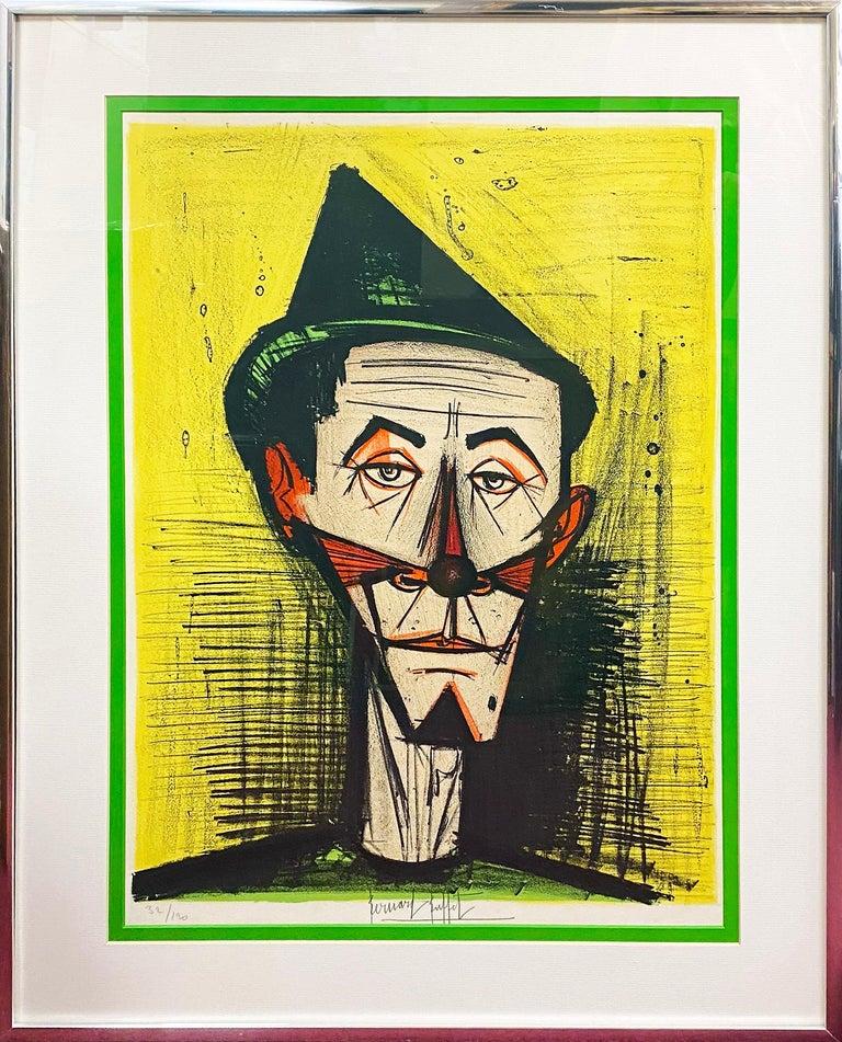 Le Clown Pointu - Print by Bernard Buffet