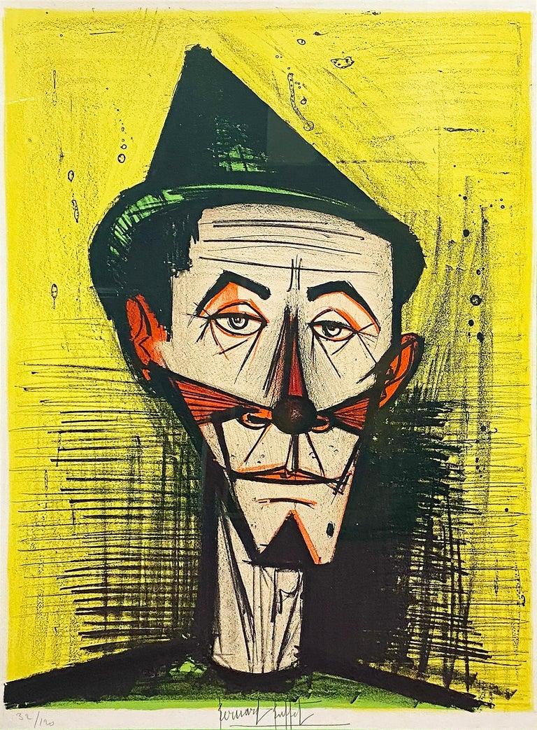 Bernard Buffet Figurative Print - Le Clown Pointu