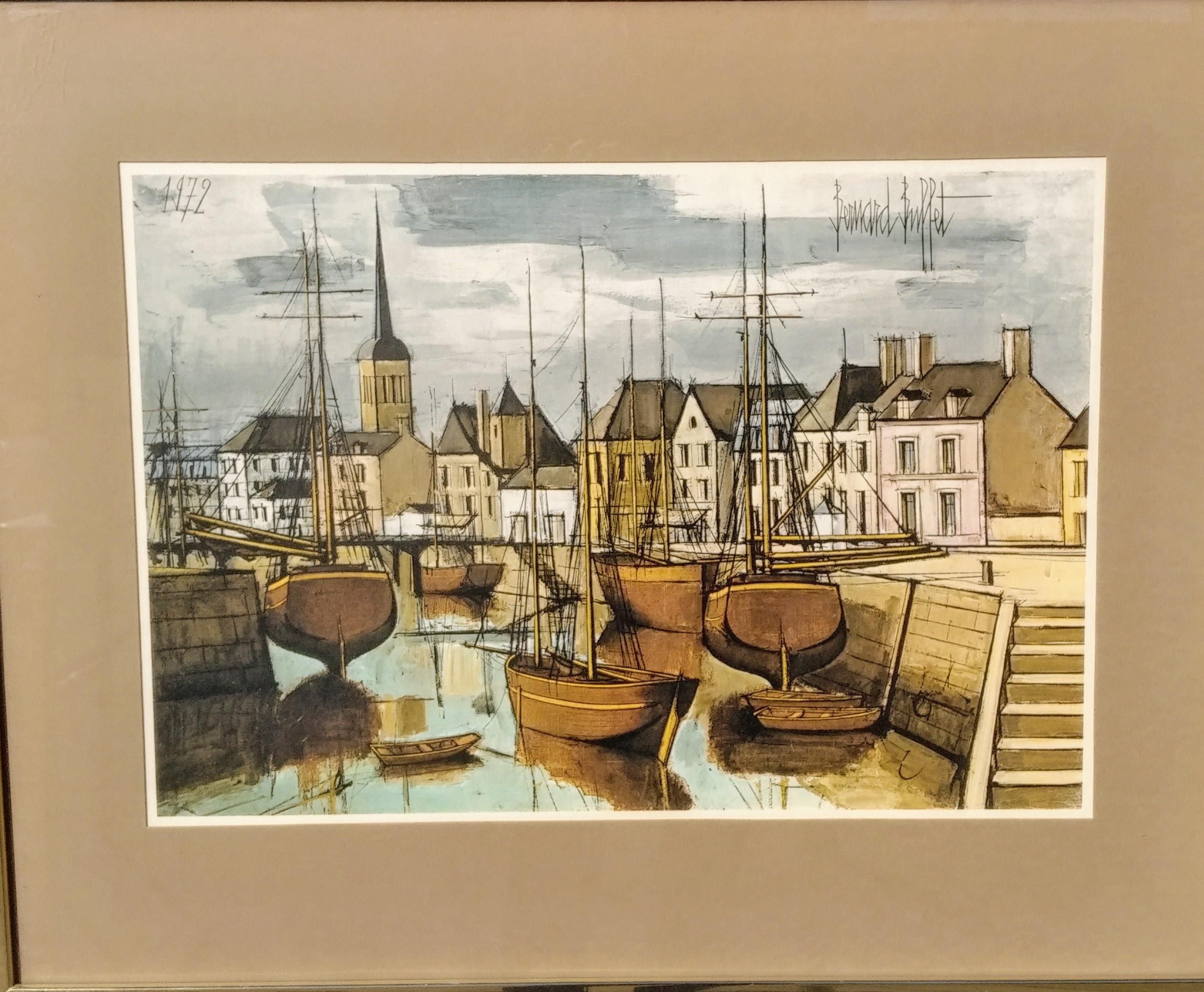 Les Sables D'Olonne, Le Port à Maree Basse, by Bernard Buffet