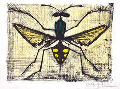 "Mosquito - Original Lithograph from ""Les Insectes"", by B. Buffet - 1967"