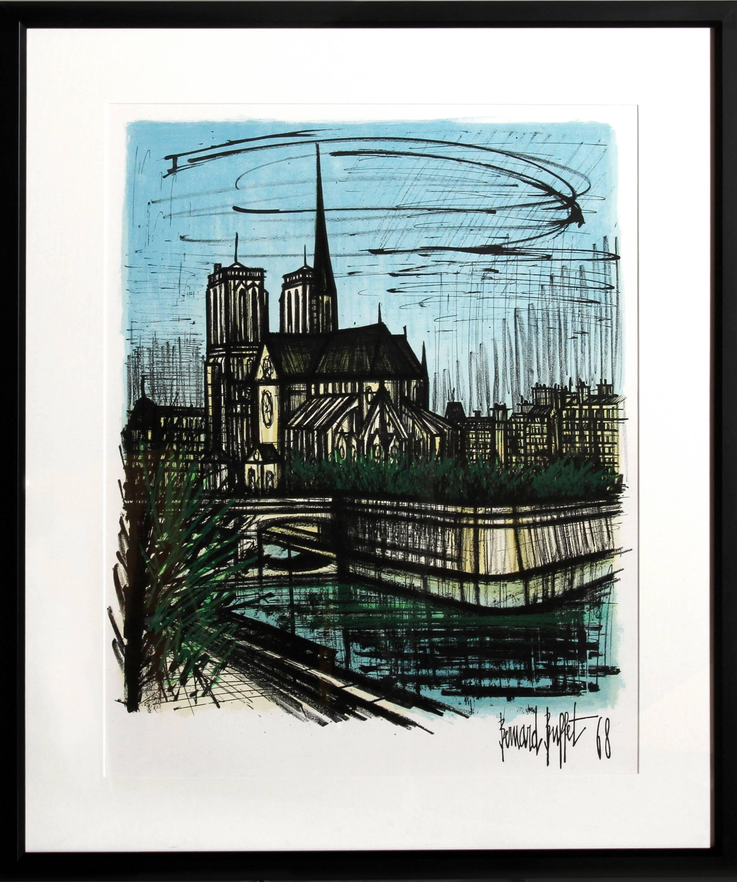 Brilliant Buildings In New York Original Lithograph Mourlot 1967 Home Interior And Landscaping Ferensignezvosmurscom