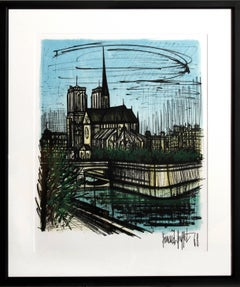 Notre Dame, Framed Lithograph by Bernard Buffet