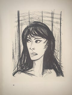 Rita - Color Lithograph - Bernard Buffet