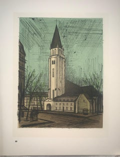 Saint-Germain-Des-Pres - Hall - Color Lithograph - Bernard Buffet