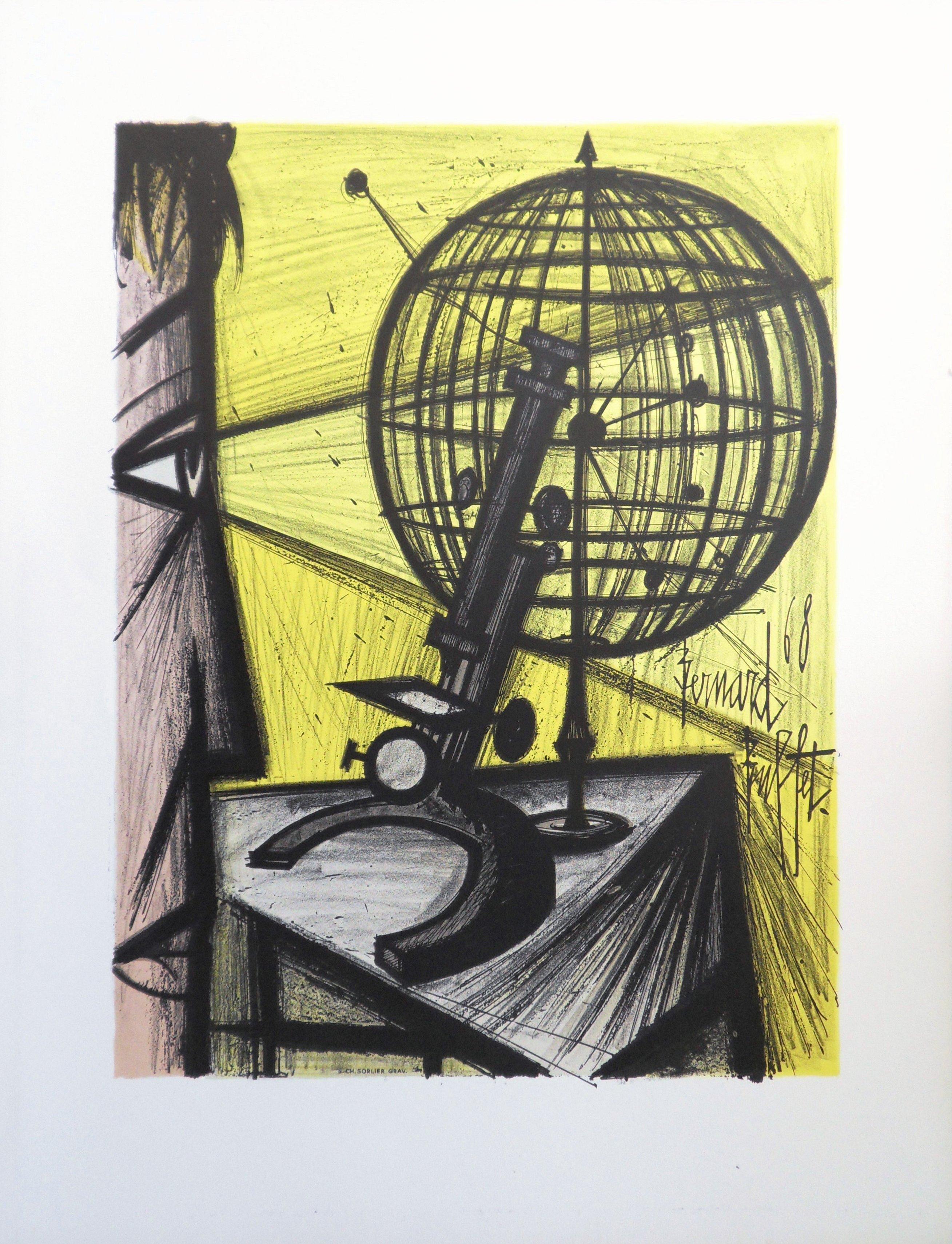 Science : The Microscope - Original lithograph (Mourlot 1969)