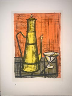 Still Life A La Coffee Pot - Color Lithograph - Bernard Buffet