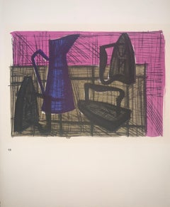 Still Life With Irons - Color Lithograph - Bernard Buffet