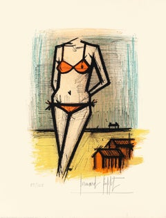 Swimmer - Original Lithograph by B. Buffet - 1960s