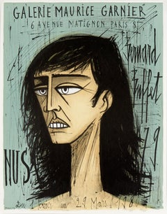 Téte de Femme, Affiche (Head of Woman, poster) by Bernard Buffet
