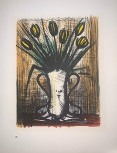 Vase Of Tulips - Color Lithograph - Bernard Buffet