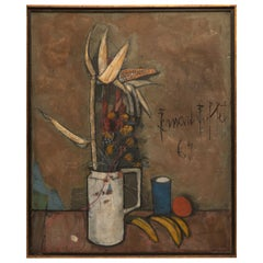 Bernard Buffet Still Life, 1967 Signed Oil on Canvas