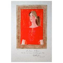 "Bernard Cathelin ""Dominique a La Blouse Hongroise"" Original Lithograph"