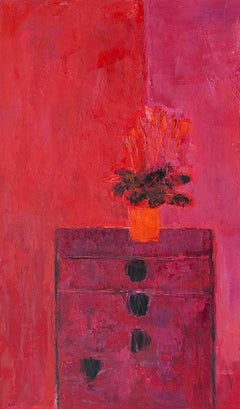 """Begonia Au Tanzu De Chozo Yoshii,"" Modern Art, Still Life, Painting"