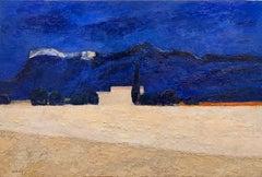 Ferme Blanche Au Champs D'Etoubles, Expressionistic, Landscape Painting