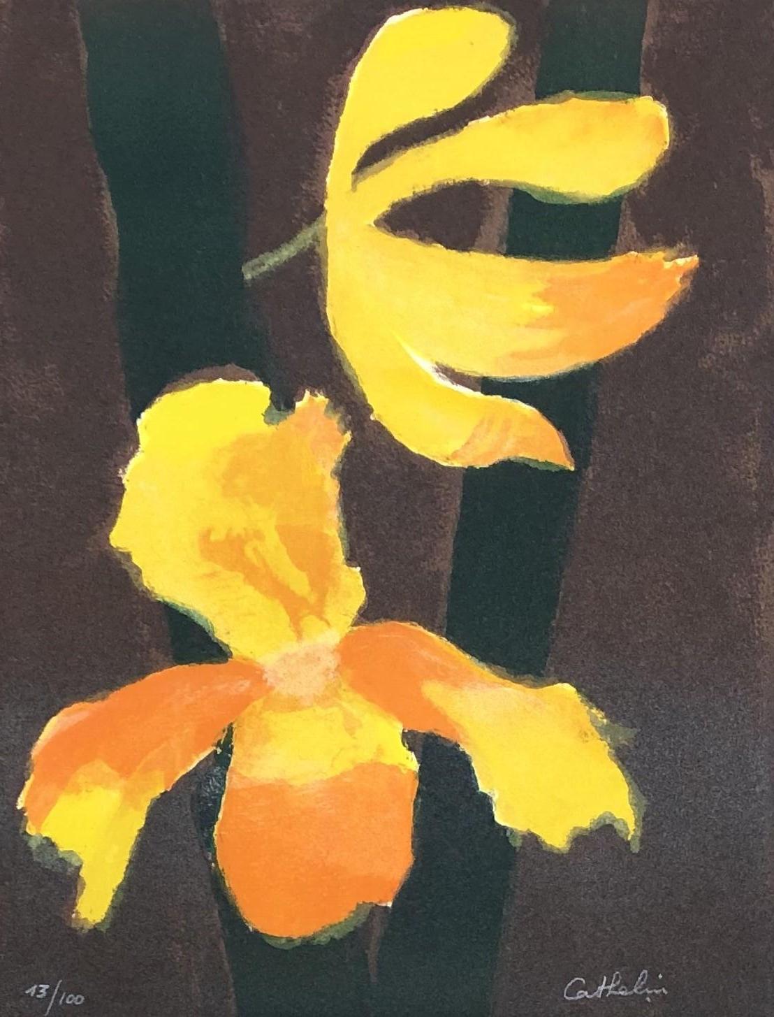 Orchids - Original lithograph handsigned - 100 copies