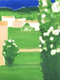 Provençal Landscape - Original lithograph handsigned - 100 copies