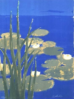 Water Lilies - Original lithograph handsigned - 100 copies