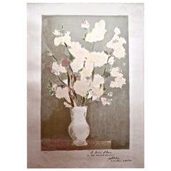 Bernard Cathelin Vase of Flowers Lithograph
