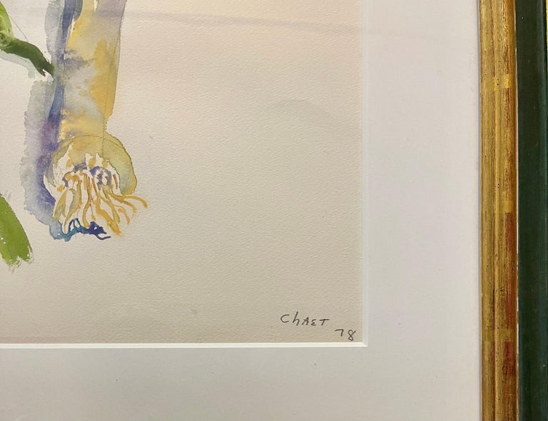 Large American Modernist Watercolor Painting Leeks Bernard Chaet Expressionist For Sale 4