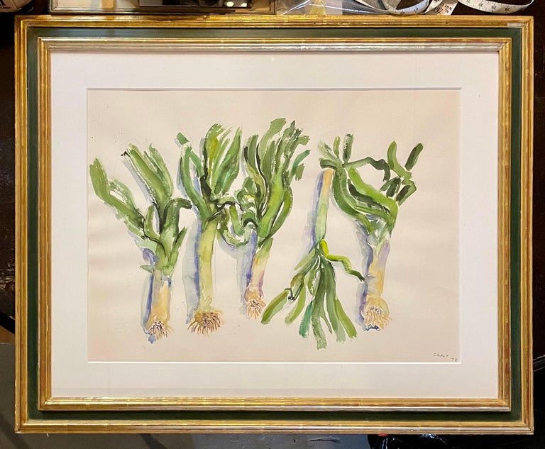 Large American Modernist Watercolor Painting Leeks Bernard Chaet Expressionist For Sale 6