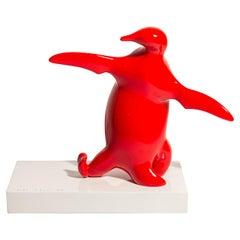 Bernard Conforti, Penguin Sculpture, Resin, Signed, circa 2010