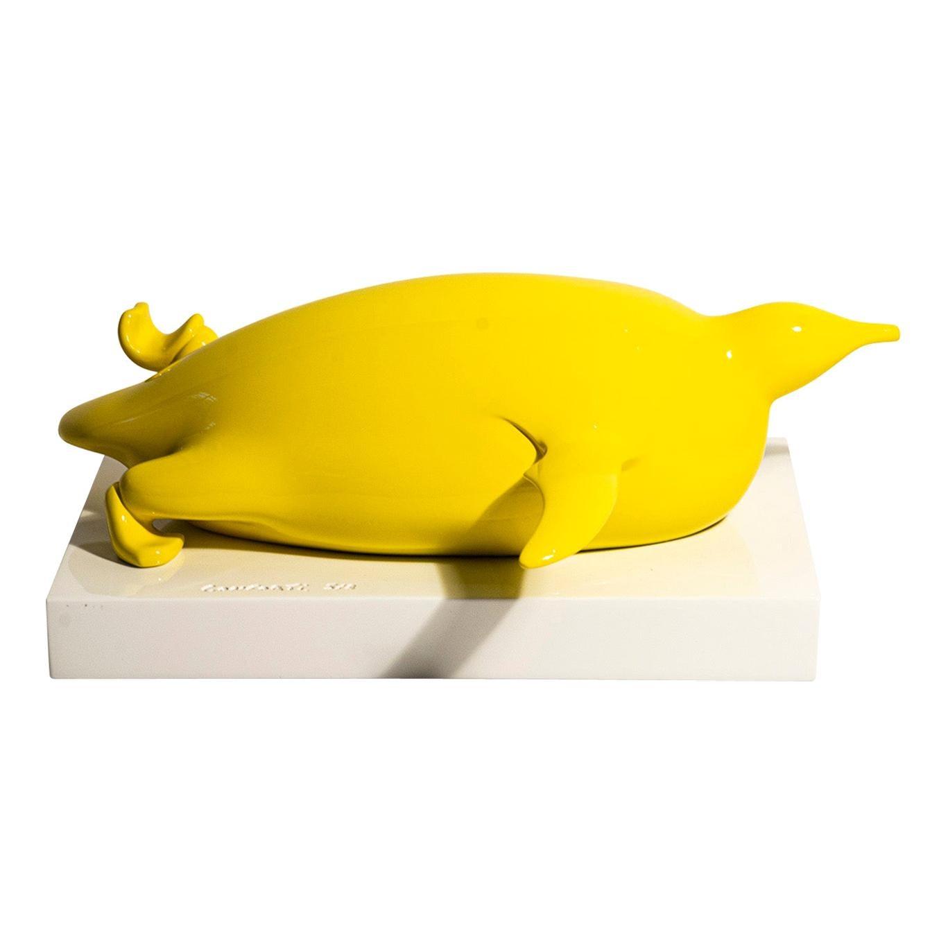 Bernard Conforti, Penguin Sculpture, Resin, Signed, circa 2010