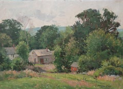 American Impressionist Artist Bernard Corey Early Spring Landscape