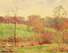 """Early Spring,"" Bernard Corey, 20th century, impressionist, landscape, oil"