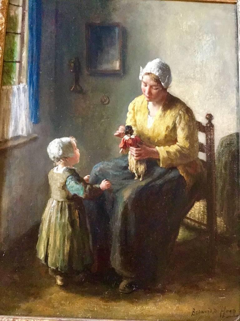 Mother and Child, A genre scene 19th / 20th Century