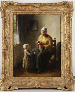 Mother and Child, A genre scene