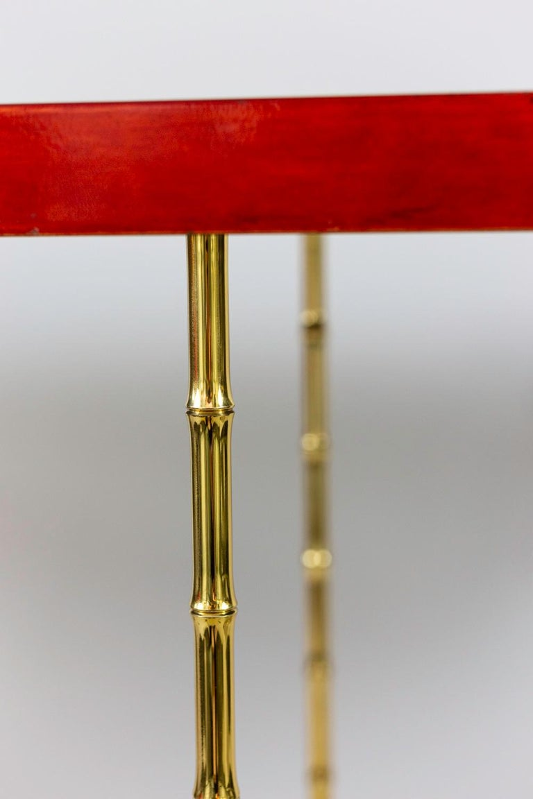Mid-20th Century Bernard Dunand, Console in Lacquer and Gilt Bronze, 1950s For Sale